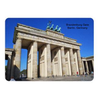 Puerta de Brandeburgo, Berlín, Alemania Invitación 12,7 X 17,8 Cm