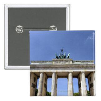 Puerta de Brandeburgo, Berlín, Alemania Pin Cuadrado