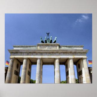 Puerta de Brandeburgo, Berlín, Alemania Póster