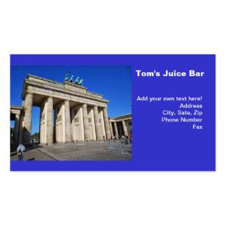Puerta de Brandeburgo, Berlín, Alemania Tarjeta De Visita