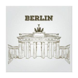 Puerta de Brandeburgo, Berlín Impresion En Lona