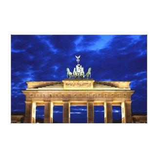 Puerta de Brandeburgo, Berlín Impresión En Lona Estirada