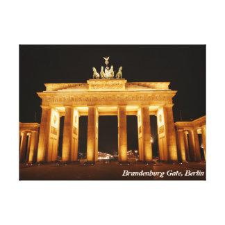 Puerta de Brandeburgo, Berlín Lona Envuelta Para Galerias