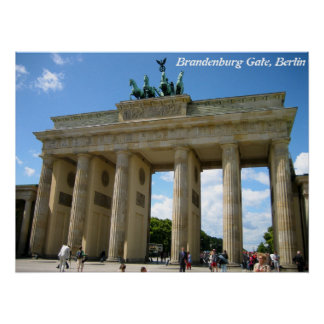 Puerta de Brandeburgo, Berlín Posters