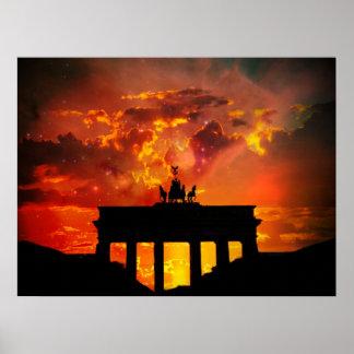 Puerta de Brandeburgo, Berlín Póster
