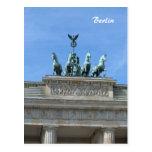 Puerta de Brandeburgo Berlín Tarjeta Postal