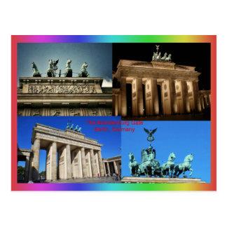 Puerta de Brandeburgo, montaje de Berlín, Alemania Postal
