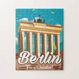 Puerta de Brandeburgo, poster del viaje del dibujo Rompecabeza