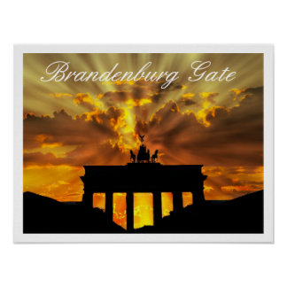 Puerta de Brandeburgo, Tor de Brandenburger, Berlí Póster