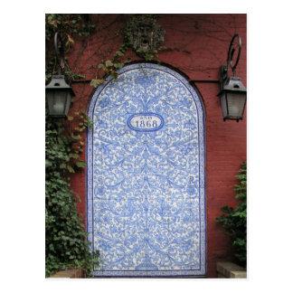 puerta de calle del bleeker tarjeta postal