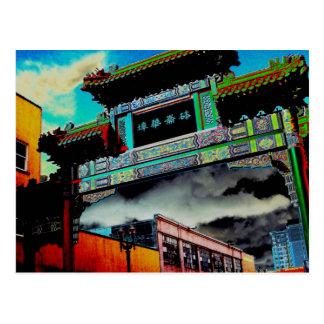 Puerta de Chinatown Tarjetas Postales