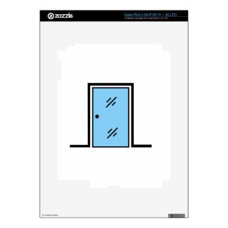 puerta de cristal con el marco iPad 3 pegatina skin