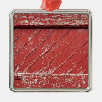 Puerta de granero de madera pintada rojo ornaments para arbol de navidad