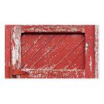 Puerta de granero de madera pintada rojo tarjeta de visita