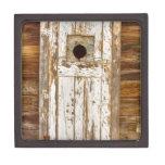 Puerta de granero vieja llevada rural rústica clás caja de regalo de calidad