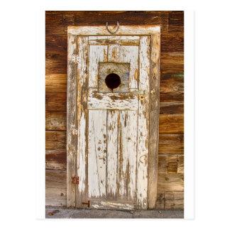 Puerta de granero vieja llevada rural rústica postal