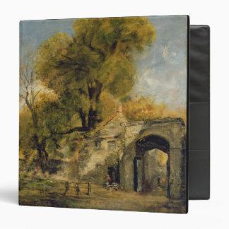 "Puerta de Harnham, Salisbury, c.1820-21 (aceite en Carpeta 1 1/2"""