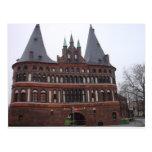 Puerta de Holsten - Lubeck Alemania Tarjeta Postal