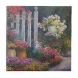 Puerta de jardín azulejo cerámica