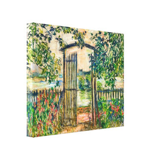 Puerta de jardín de Monet en Vetheuil Impresiones En Lona Estiradas