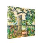 Puerta de jardín de Monet en Vetheuil Impresión En Lienzo Estirada
