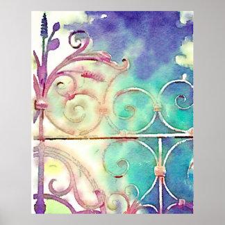 Puerta de jardín de París Impresiones