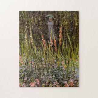 Puerta de jardín en la bella arte de Vetheuil Rompecabeza Con Fotos
