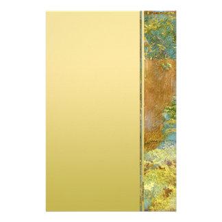 Puerta de jardín en turquesa, oro y verde  papeleria