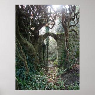 Puerta de jardín irlandesa póster