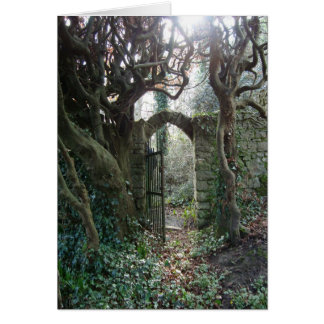 Puerta de jardín irlandesa tarjeton