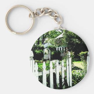 Puerta de jardín llavero personalizado