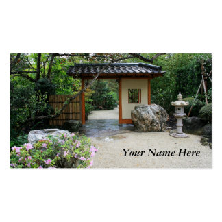 Puerta de jardín oriental tarjetas de visita
