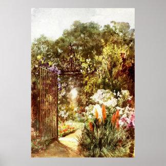 Puerta de jardín poster