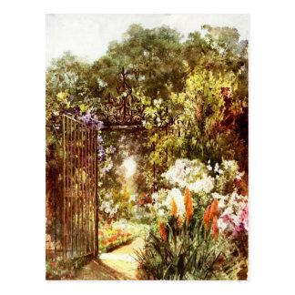 Puerta de jardín postales