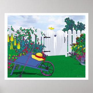 Puerta de jardín póster
