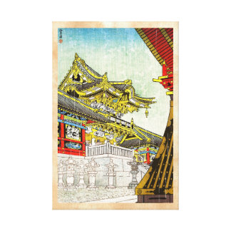 Puerta de Kasamatsu Shiro Yomei en arte de la lluv Impresiones En Lienzo Estiradas