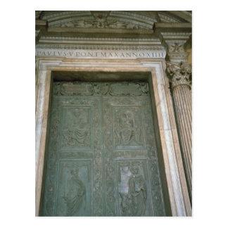 Puerta de la basílica de San Pedro Tarjetas Postales
