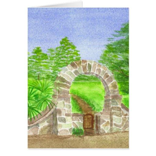 Puerta de la calle del limón tarjeta de felicitación