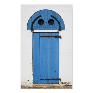 Puerta de la casa de playa de la isla de la ciudad poster