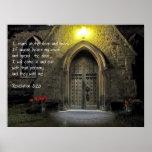Puerta de la iglesia del 3:20 de la revelación posters