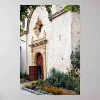 Puerta de la iglesia en el poster de San Carlos de