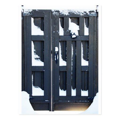 Puerta de la nieve postal