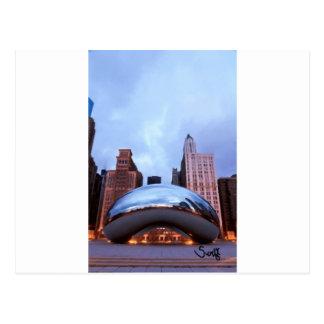 Puerta de la nube de Chicago Postales