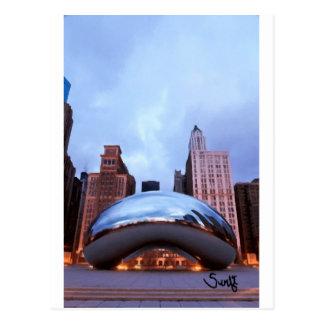 Puerta de la nube de Chicago Tarjetas Postales