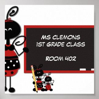 Puerta de la sala de clase del profesor o poster d