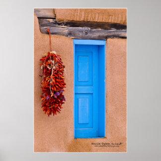 Puerta de la turquesa póster
