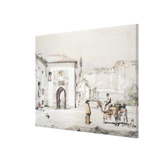 Puerta de la vid Puerta del Vino de bosquejos Impresión En Lona Estirada