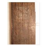 Puerta de madera de la tumba de Khonsuhotep nueva Tarjeta Postal