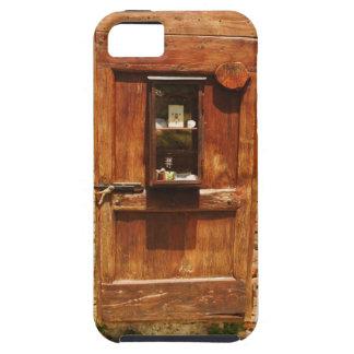Puerta de madera de una casa Monteriggioni Siena iPhone 5 Case-Mate Carcasa