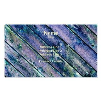 Puerta de madera púrpura tarjetas de visita
